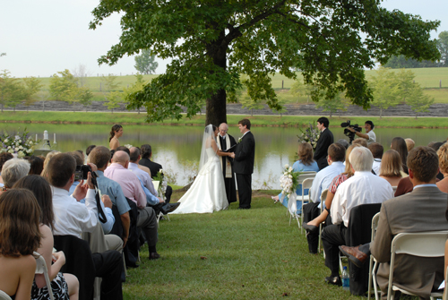 lakeside wedding ceremony Cartersville